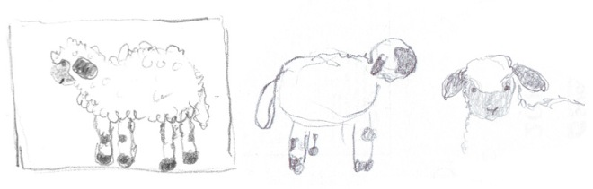 """Sketch for crochet valais blacknose sheep"""