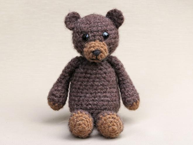 Small teddy bear amigurumi keychain crochet - Amigu World | 495x660