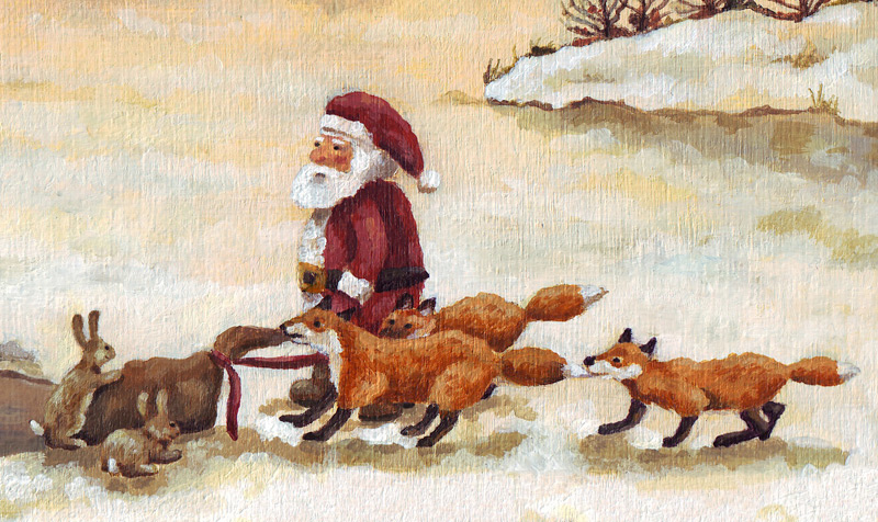 """santa clause foxes and rabbits, de kerstman"""