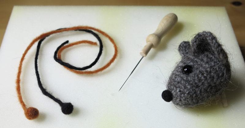 crochet doll nose