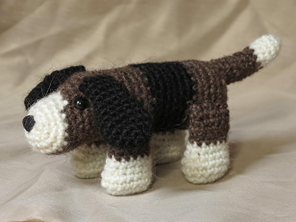 patroon gehaakte hond, crochet dog pattern