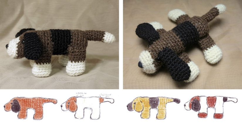 patroon gehaakte hond, crochet dog pattern