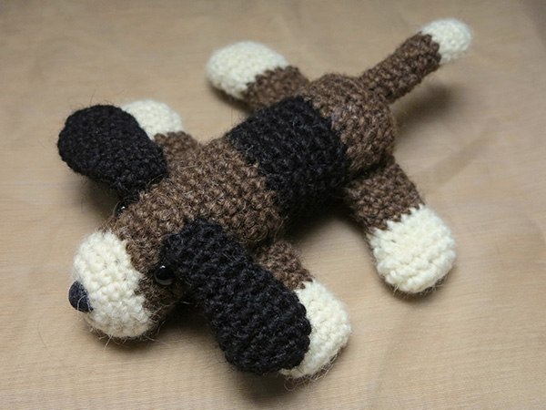 Crochet Patterns Dog : crochet dog flat