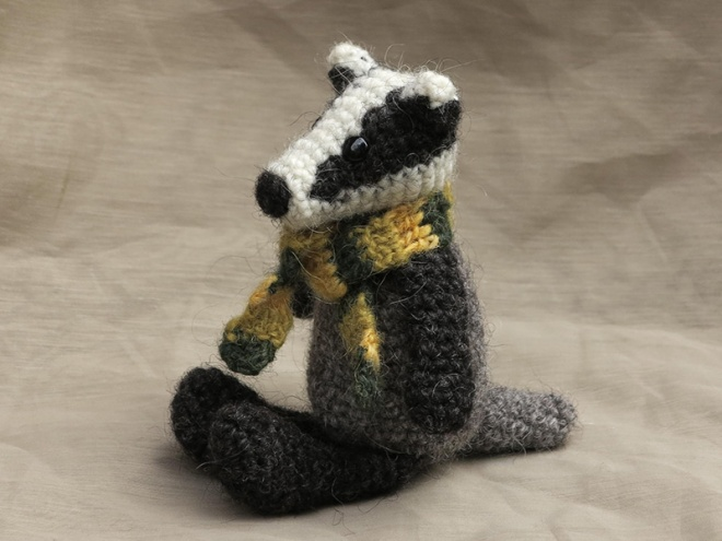 crochet badger pattern, badger amigurumi, haakpatroon das
