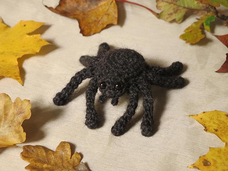 gehaakte spin, amigurumi spider, crochet spider