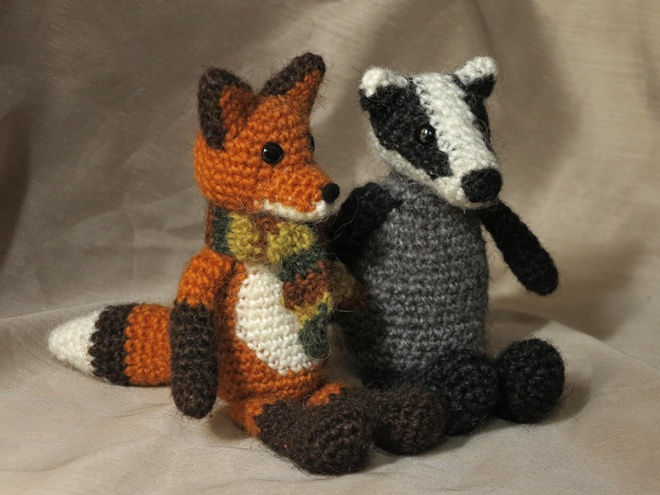 badger crochet, fox crochet