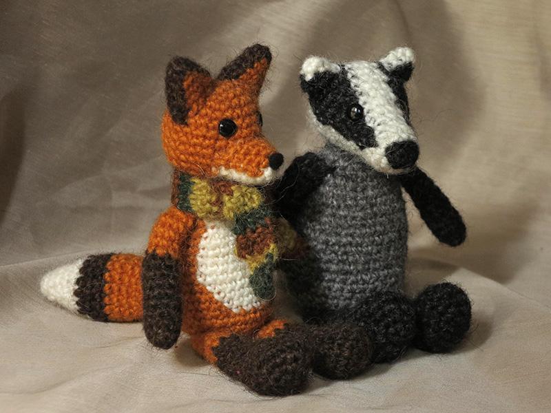 badger crochet, fox crochet