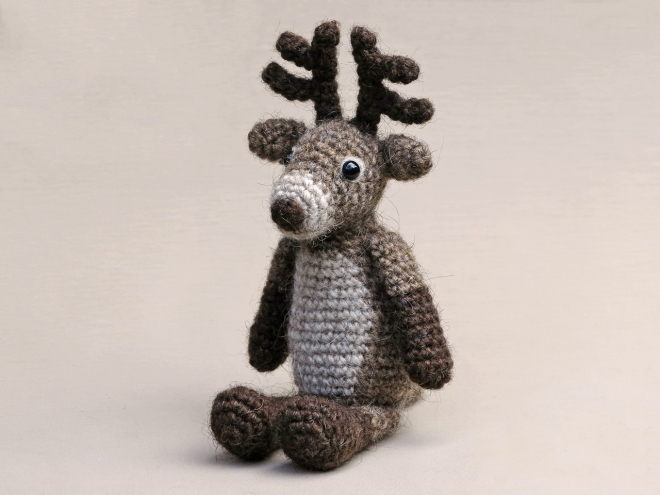 crochet reindeer pattern, haakpatroon rendier, red nosed reindeer, rudolph