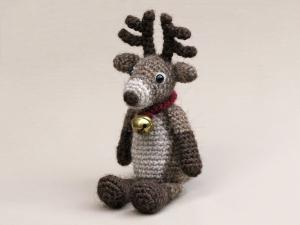 Crochet red nosed reindeer