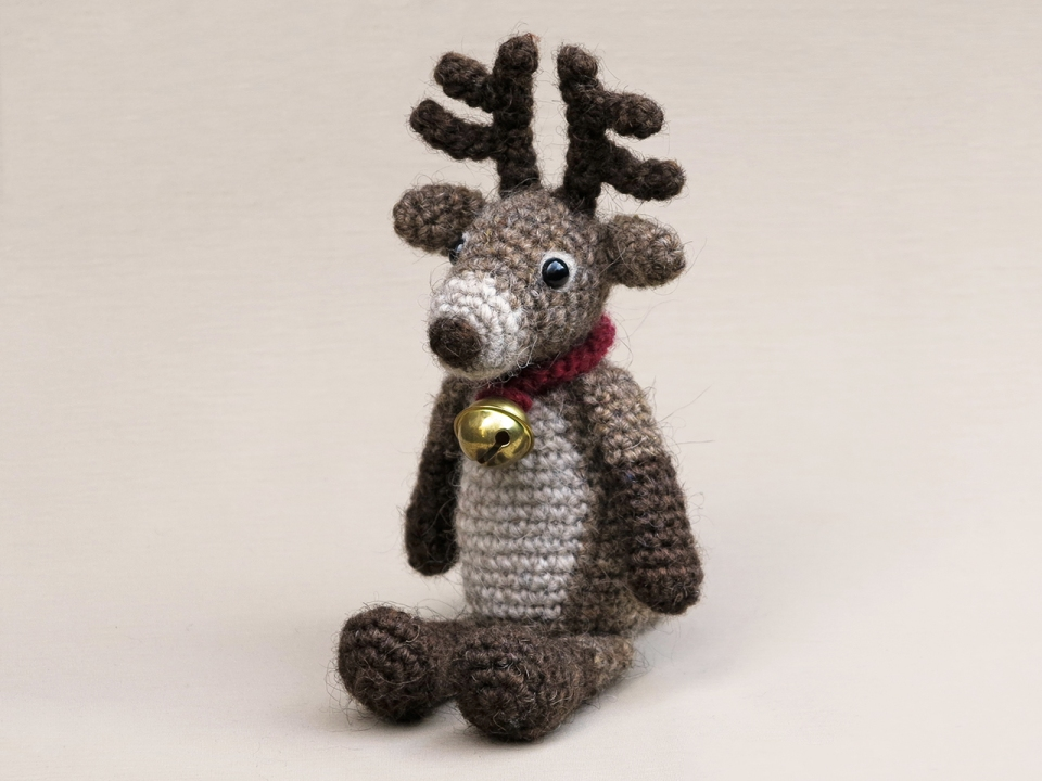 Crochet red nosed reindeer