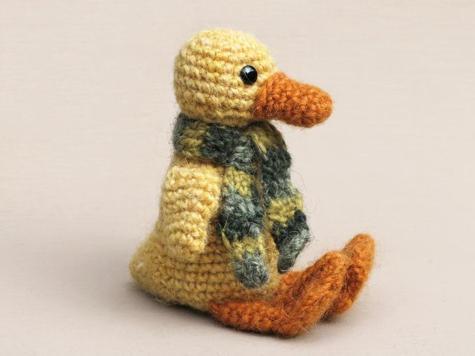 crochet pattern duckling, amigurumi duck