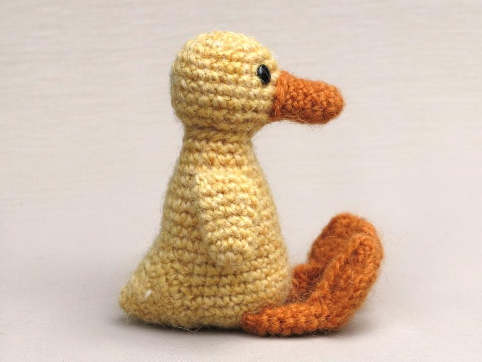 haakpatroon jonge eend, eendje, duckling amigurumi