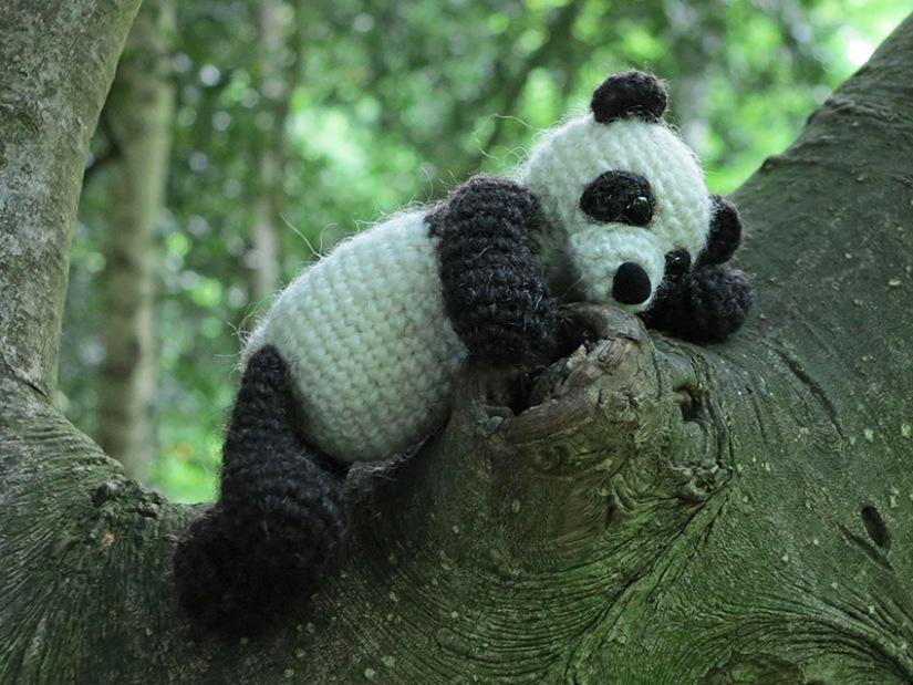 crochet panda bear