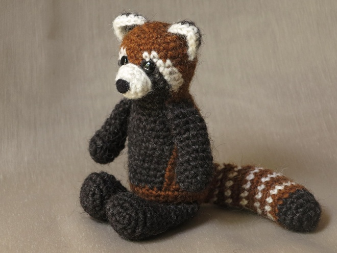 crochet red panda doll