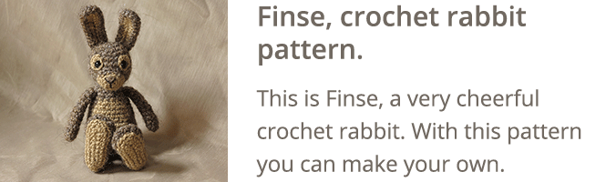 Crochet rabbit pattern