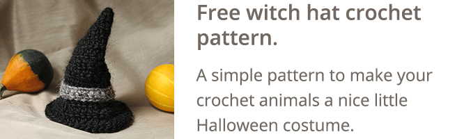 Free witch hat crochet pattern
