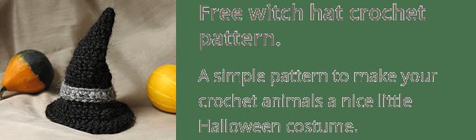 Free witch hat crochet pattern