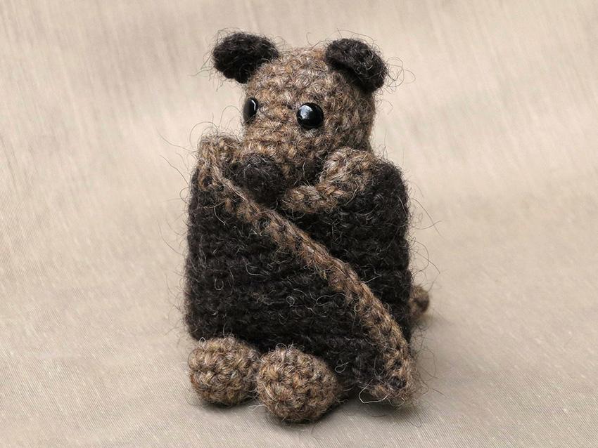 Brutus, crochet bat pattern Sons Popkes