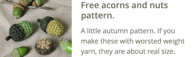 free crochet acorns pattern