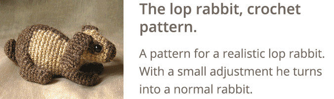 Crochet lop rabbit pattern