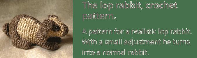 Crochet lop rabbit pattern