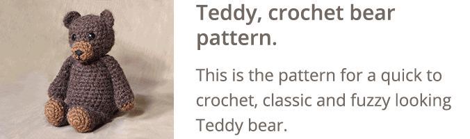 Crochet bear pattern