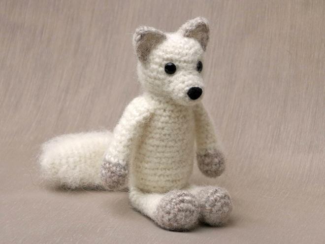 amigurumi arctic fox crochet