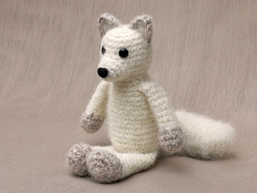 Crochet Fox : crochet arctic fox pattern, amigurumi
