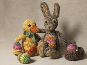 easter spring crochet animals