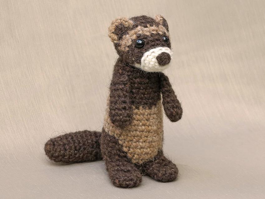 Bunsie, crochet ferret aka polecat pattern | Son\'s Popkes