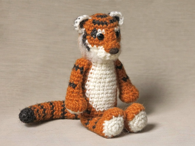 tiger amigurumi crochet pattern