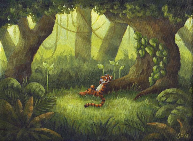 Son's Popkes artwork, illustration.