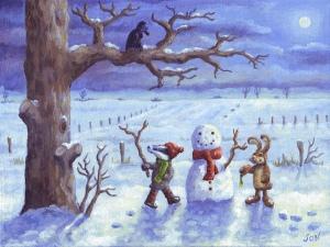 Snow landscape painting