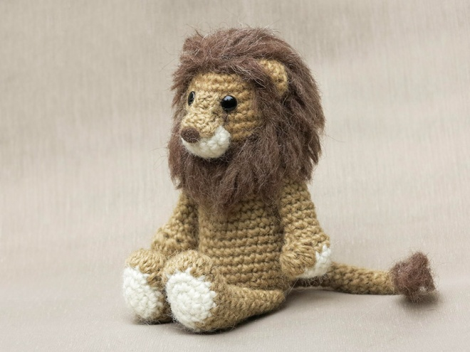 Lopi, crochet lion pattern Sons Popkes