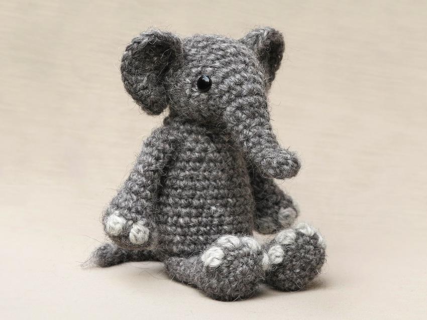 Elephant Amigurumi Free Crochet Pattern • Spin a Yarn Crochet | 638x850