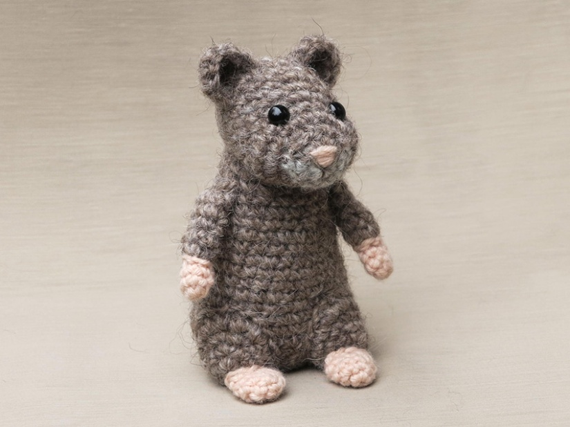 realistic crochet hamster, haakpatroon hamster
