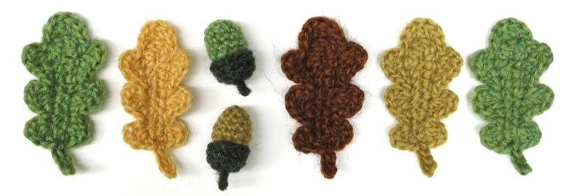 crochet oak leaves