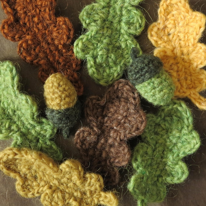 oak leaf crochet pattern