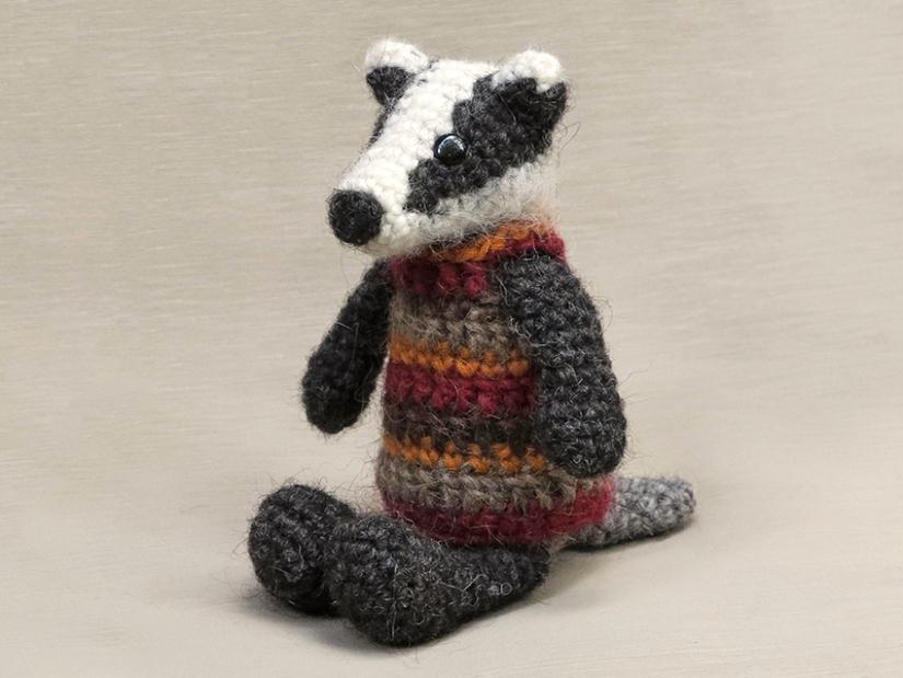 Dapper crochet badger