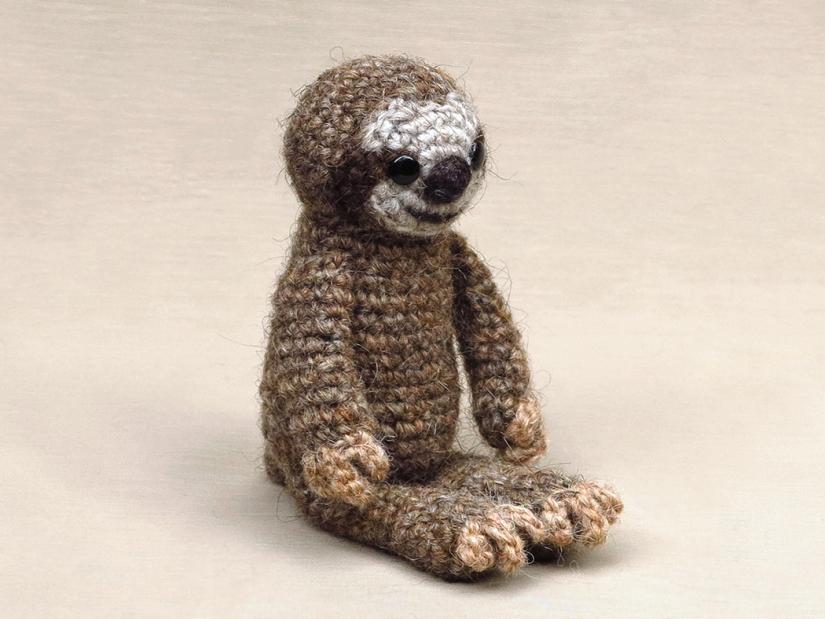 realistic amigurumi sloth