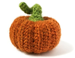 wide crochet pumpkin