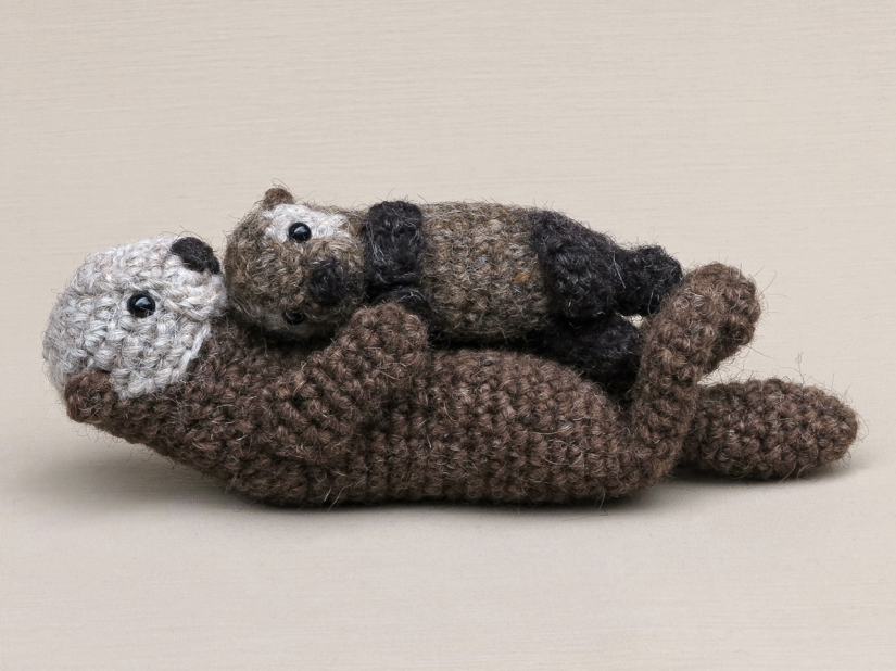 crochet sea otter