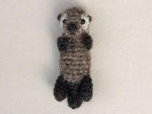sea otter baby amigurumi
