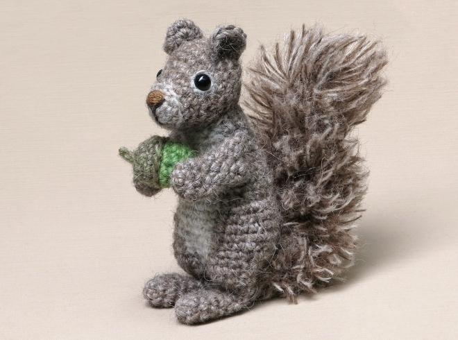 realistic amigurumi squirrel