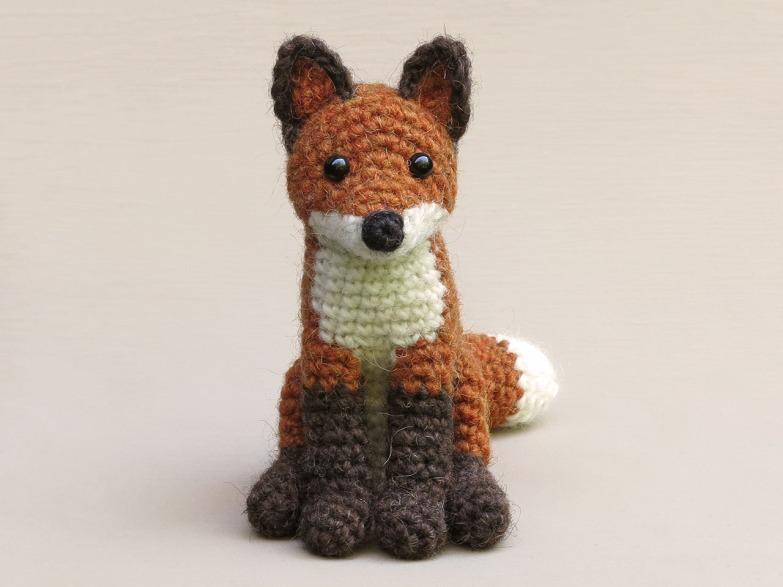 realistic crochet fox