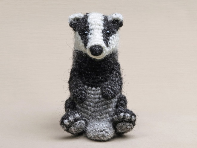 realsitic crochet badger