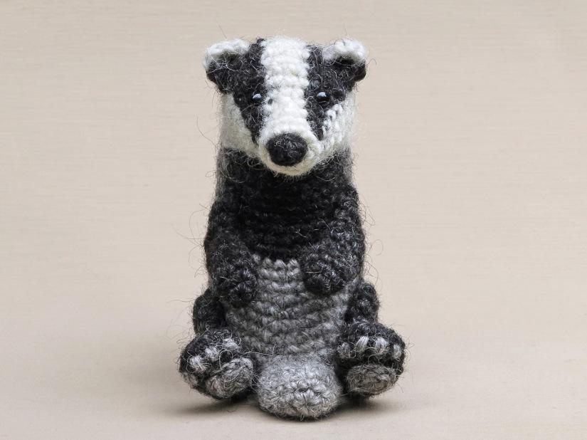 realsitic crochet badger