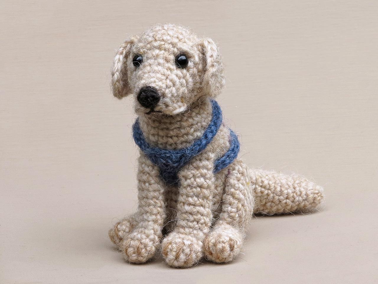 realistic dog amigurumi