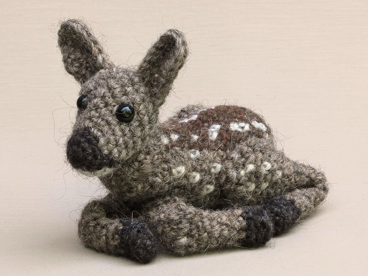 crochet baby deer