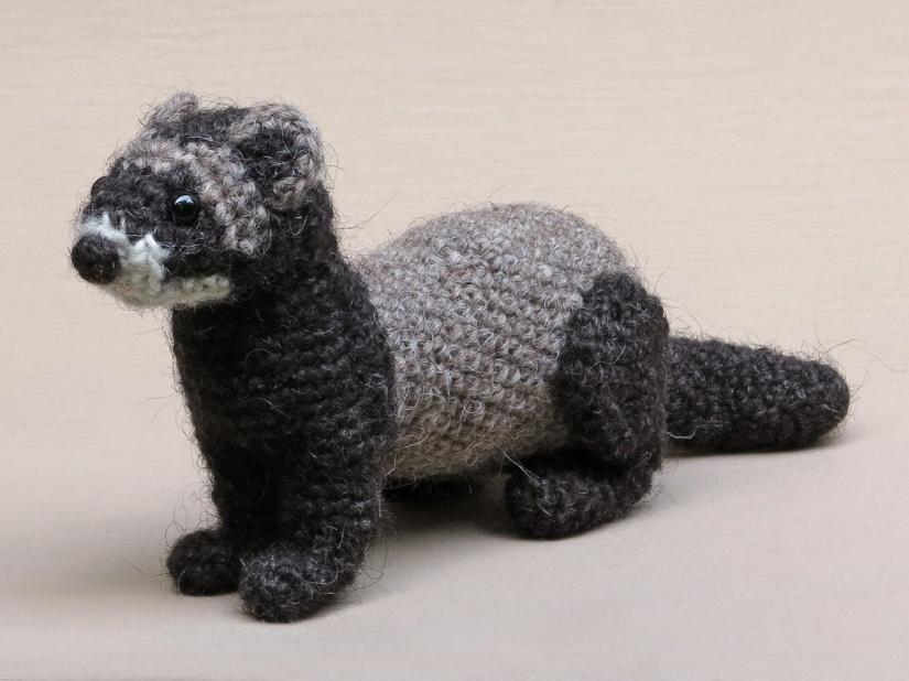 realistic ferret crochet pattern